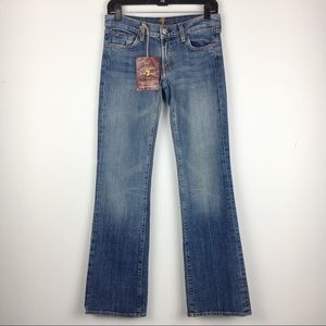 NWT 7 For All Mankind Distressed Bootcut Jeans 27